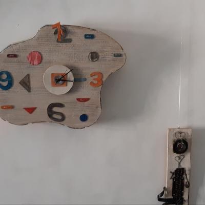 Horloge molle carton